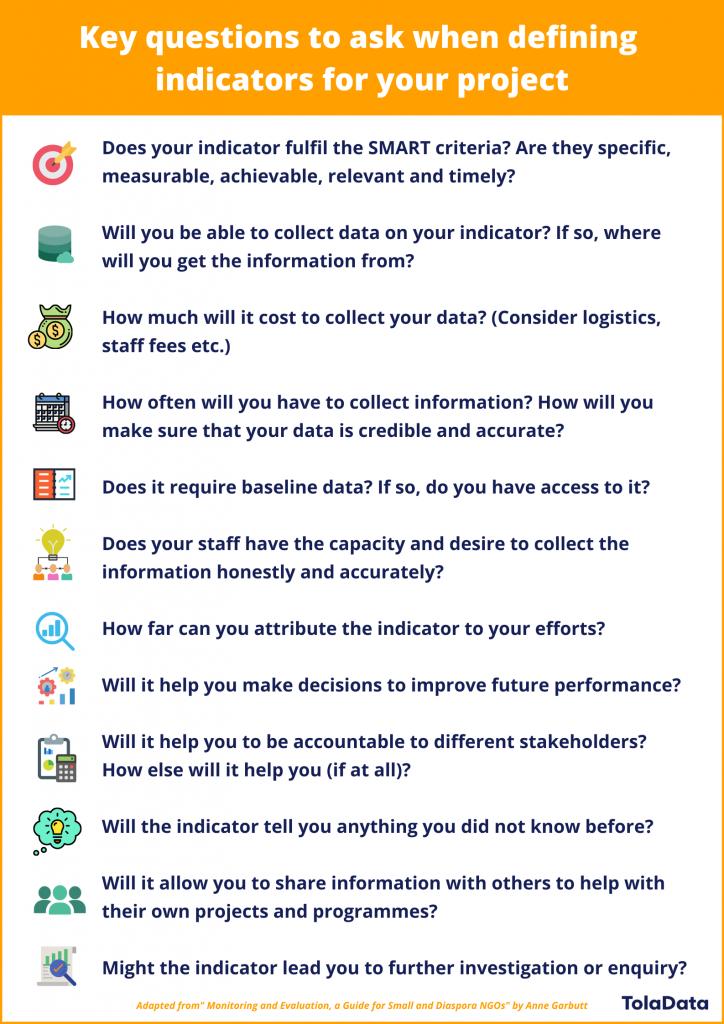 key questions that can help you define good indicators