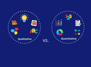 qualitative and quantitative data collection methods in M&E