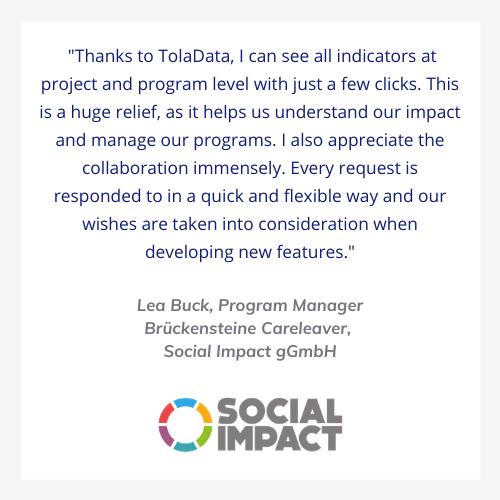 TolaData client testimonial